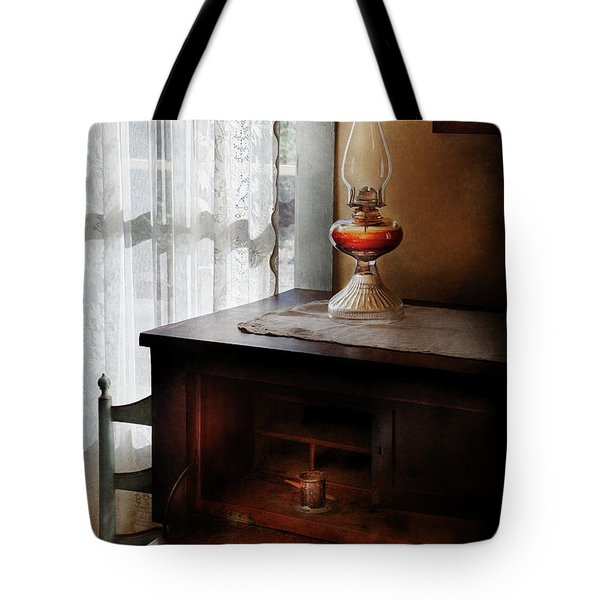 Furniture - Lamp - I Used To Write Letters  Tote Bag by Mike Savad