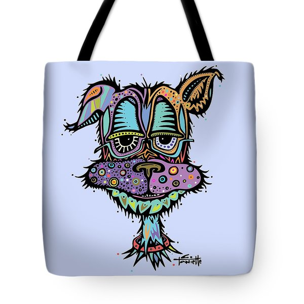 Tote Bag featuring the drawing Furr-gus by Tanielle Childers