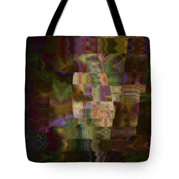 Tote Bag featuring the digital art Furrows by Kate Word
