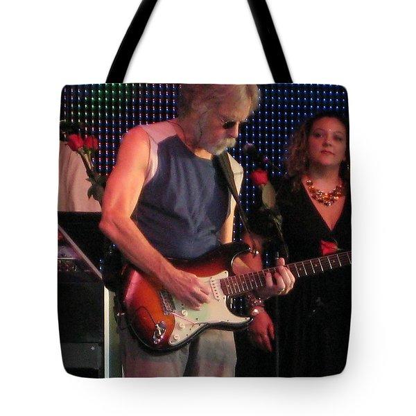 Tote Bag featuring the photograph Furthur - Bob Weir -grateful Dead Celebrities by Susan Carella