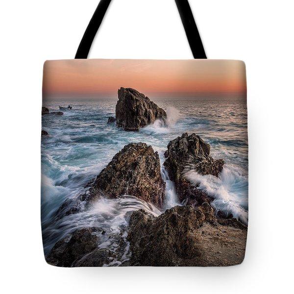 Fury Of The Sea Tote Bag