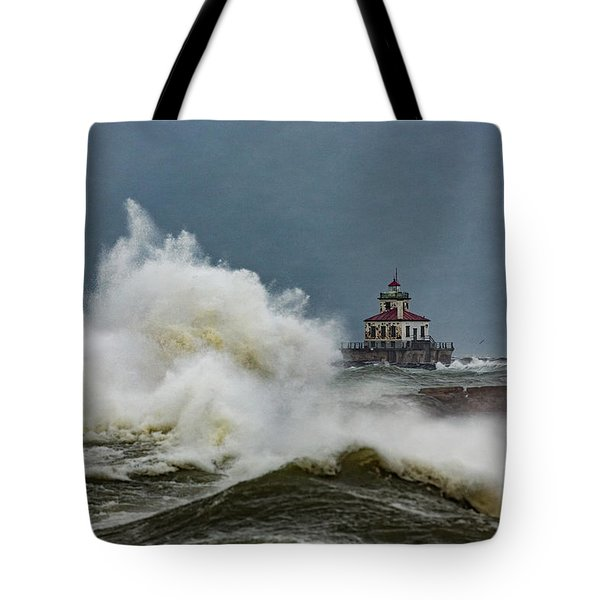 Tote Bag featuring the photograph Fury On The Lake by Everet Regal