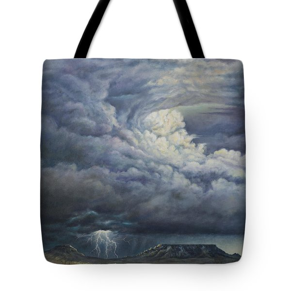 Fury Over Square Butte Tote Bag