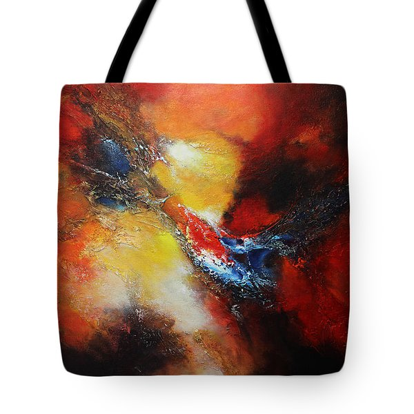 Tote Bag featuring the painting Fury by Patricia Lintner