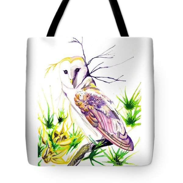 Tote Bag featuring the painting Furze Wisdom by D Renee Wilson