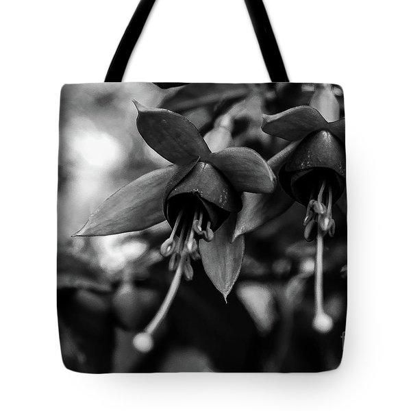 Fuchsia, Black And White Tote Bag