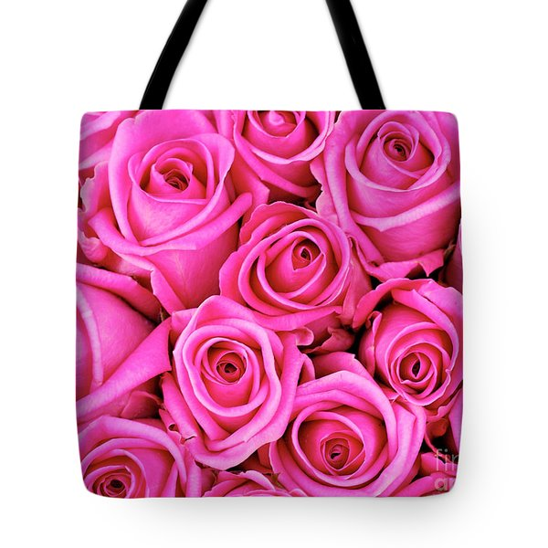 Fuschia Colored Roses Tote Bag