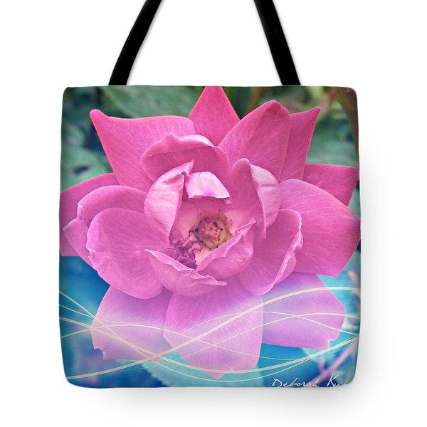 Fuschia Flower Energy Tote Bag
