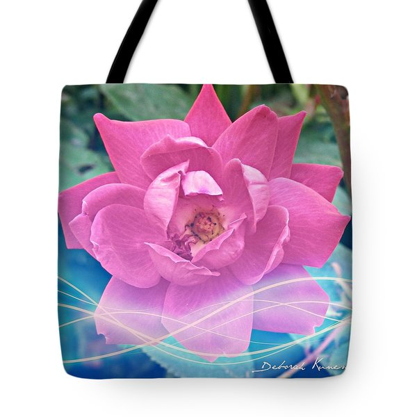 Fuschia Flower Energy Tote Bag