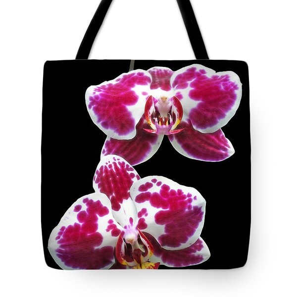 Fuschia Orchid Triplets Tote Bag