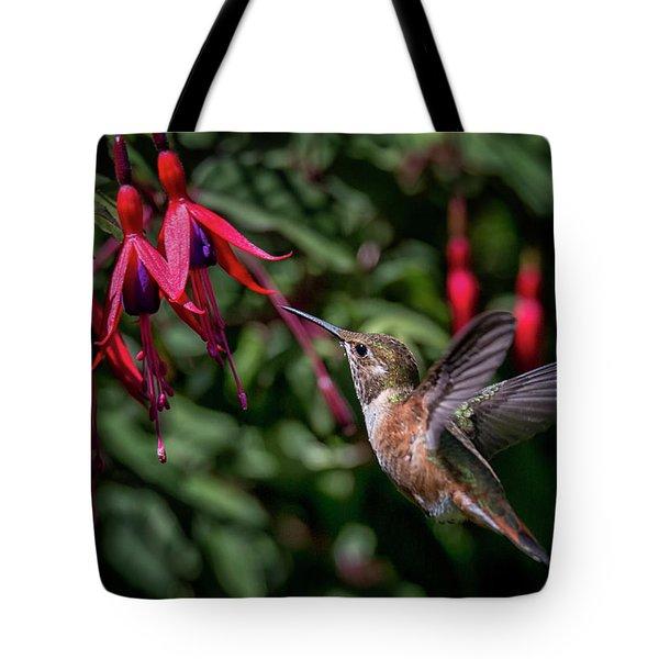 Fuschia Tote Bag by Randy Hall