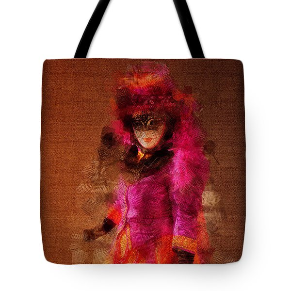 Fuschia Venice Tote Bag