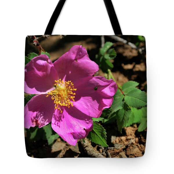 Fuschsia Mountain Accent Tote Bag