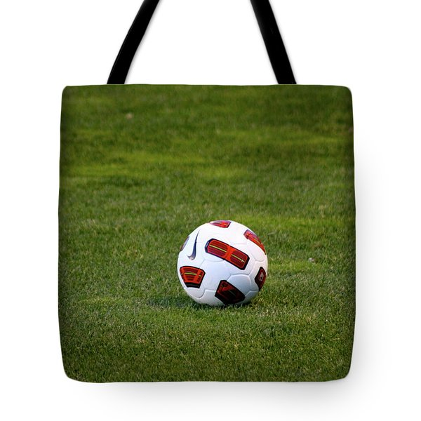 Tote Bag featuring the photograph Futbol by Laddie Halupa