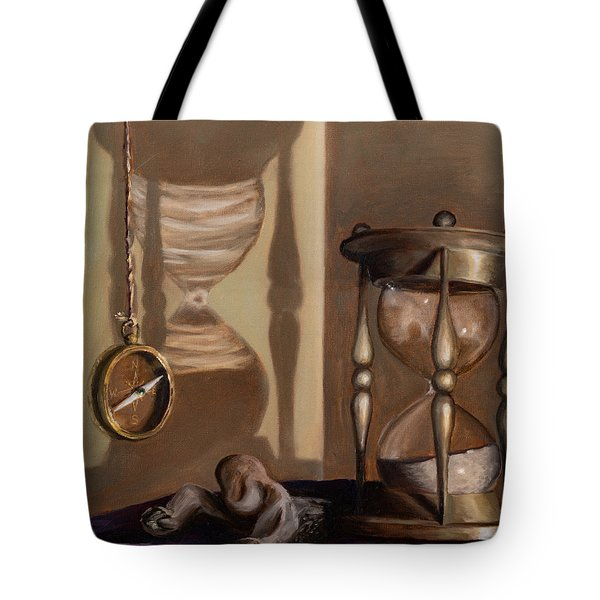 Tote Bag featuring the painting Futility by Break The Silhouette