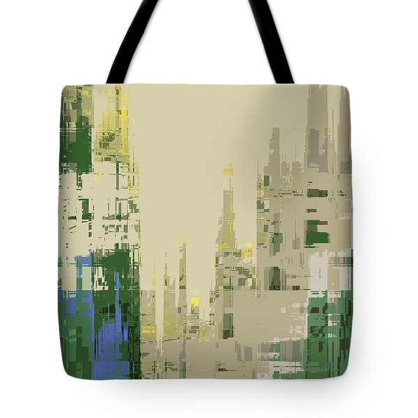 Tote Bag featuring the digital art Futura Circa 66 by Gina Harrison