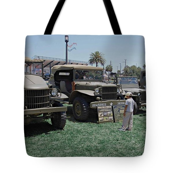 Future Soldier Tote Bag by DigiArt Diaries by Vicky B Fuller
