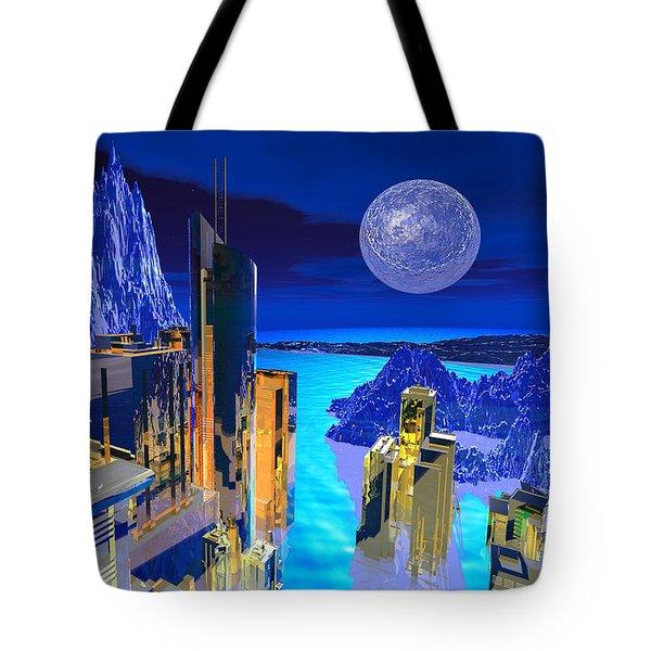Futuristic City Tote Bag