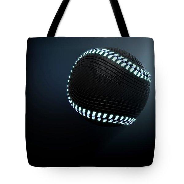 Futuristic Neon Sports Ball Tote Bag