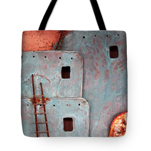 Futuristic Pueblo Tote Bag