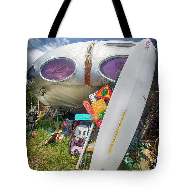 Tote Bag featuring the photograph Futuro House 2 by Alan Raasch