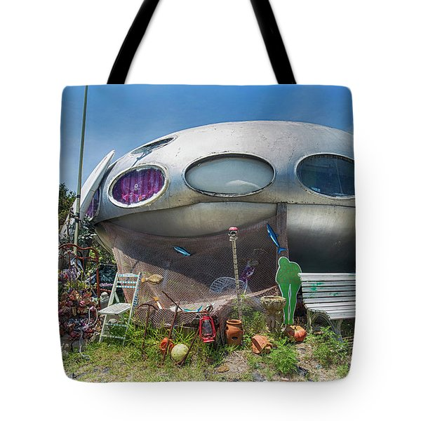 Tote Bag featuring the photograph Futuro House by Alan Raasch