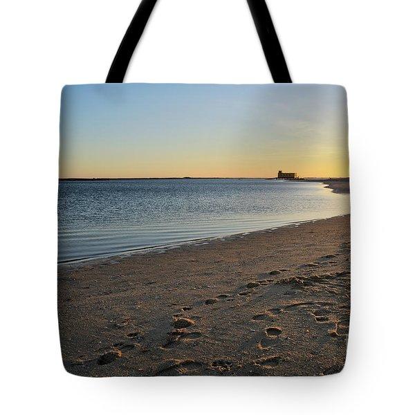 Fuzeta Beach Sunset Scenery. Portugal Tote Bag by Angelo DeVal