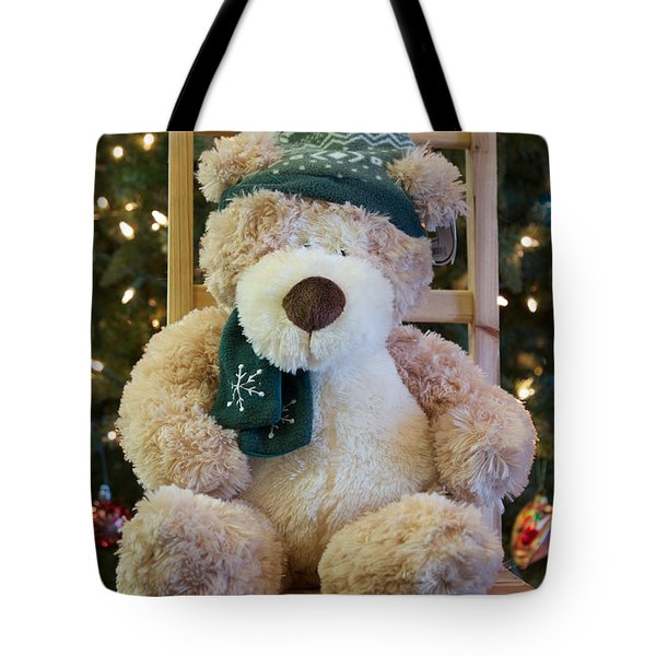 Tote Bag featuring the photograph Fuzzy Bear by Vinnie Oakes