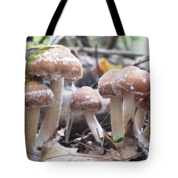 Fuzzy Fungi Tote Bag by Martha Ayotte