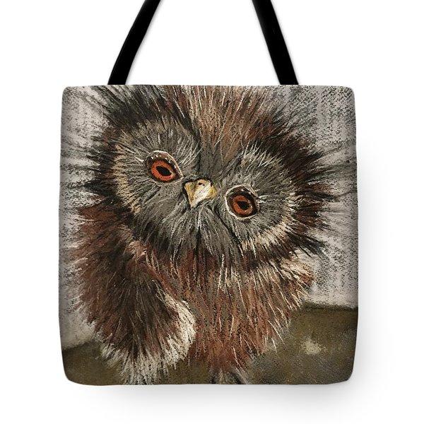 Fuzzy Owl Tote Bag