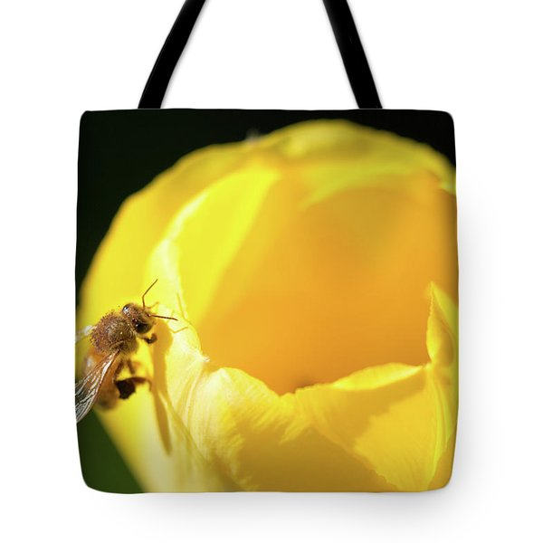 Tote Bag featuring the photograph Fuzzy Pollen by Brian Hale