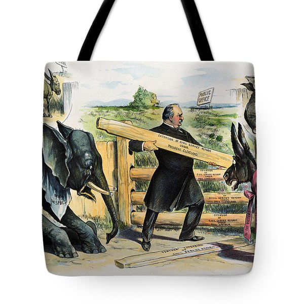 G. Cleveland Cartoon, 1895 Tote Bag by Granger