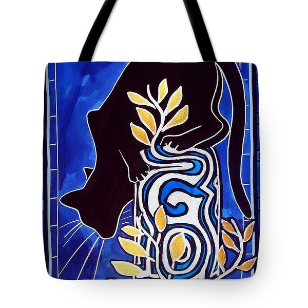 G Is For Gato - Cat Art With Letter G By Dora Hathazi Mendes Tote Bag