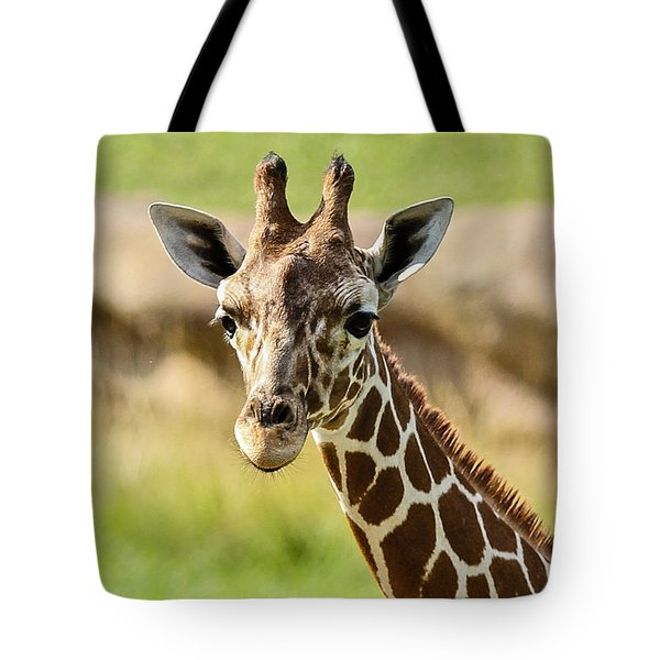 G Is For Giraffe Tote Bag by John Haldane