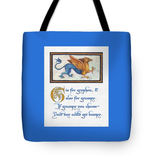 G Is For Gryphon Tote Bag