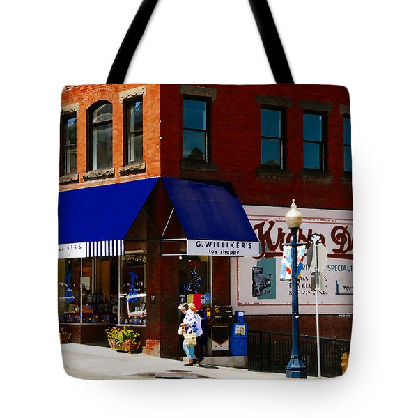 G Willikers Toy Shoppe Tote Bag by David Lee Thompson