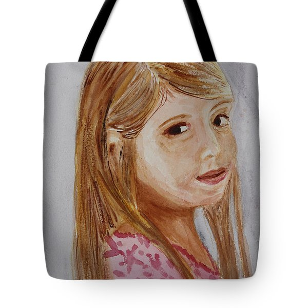 Tote Bag featuring the painting Gabriella by Donna Walsh