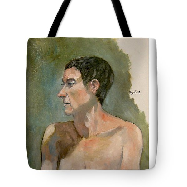 Gabrielle With Long Hair Tote Bag by Ray Agius