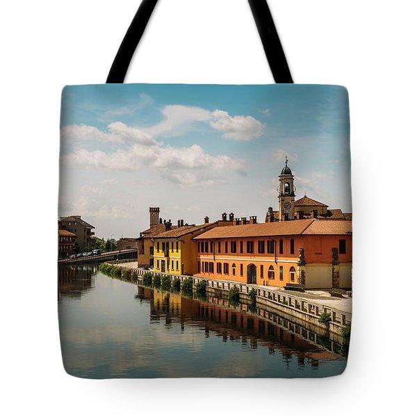 Gaggiano On The Naviglio Grande Canal, Italy Tote Bag
