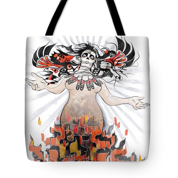 Gaia In Turmoil Tote Bag