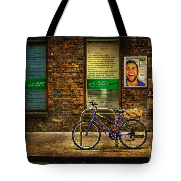 Gaiety Bicycle Tote Bag by Craig J Satterlee