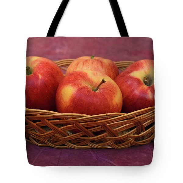 Gala Apple Basket Tote Bag by Ray Shrewsberry