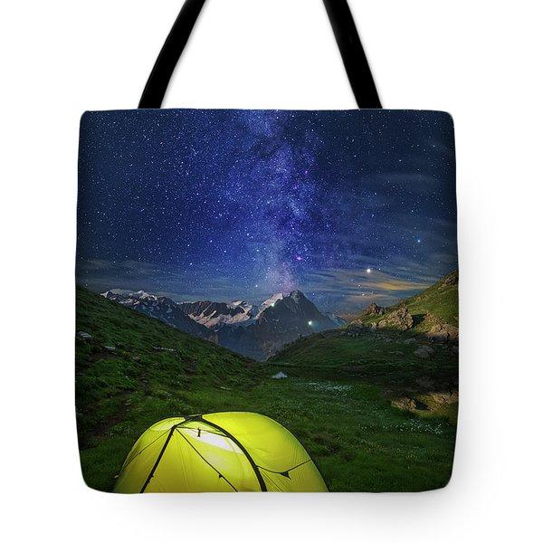 Galactic Eruption Tote Bag