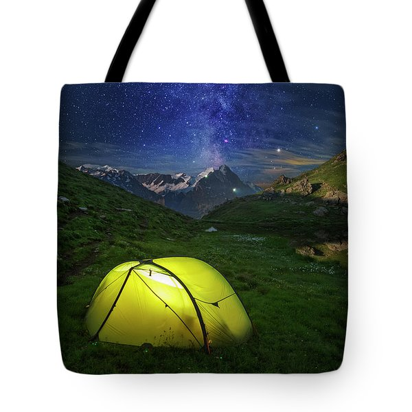 Galactic Eruption Tote Bag