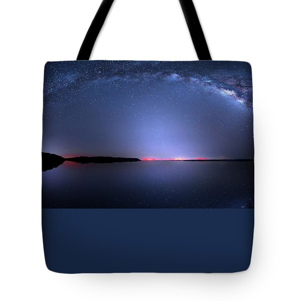 Tote Bag featuring the photograph Galactic Lake by Mark Andrew Thomas
