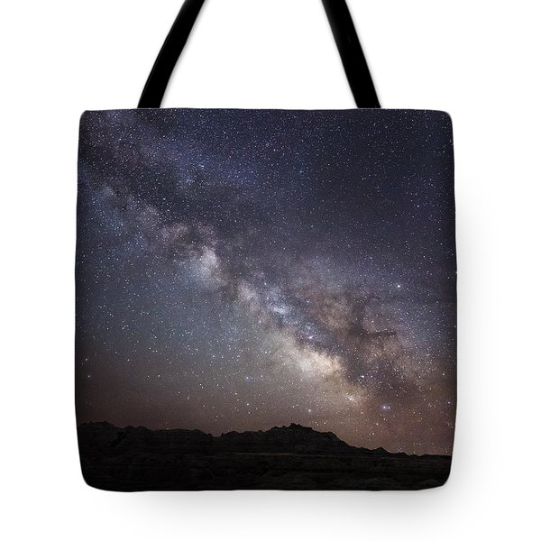 Galactic Light On Badlands National Park Tote Bag