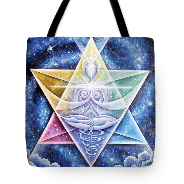 Galactic Starseed Goddess Tote Bag