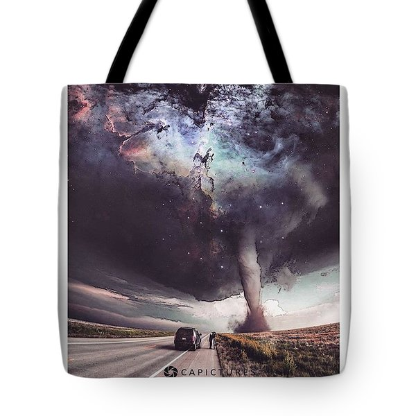 Galactic Storm Tote Bag by Cesar Abad Pictures