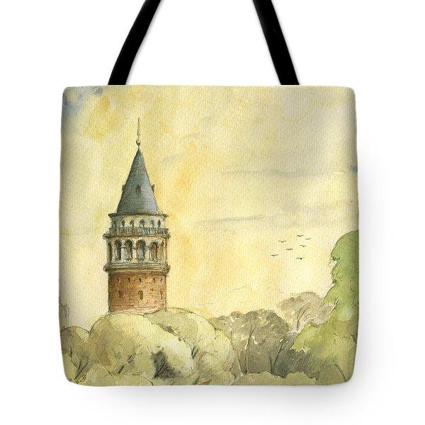 Galata Tower Istanbul Tote Bag