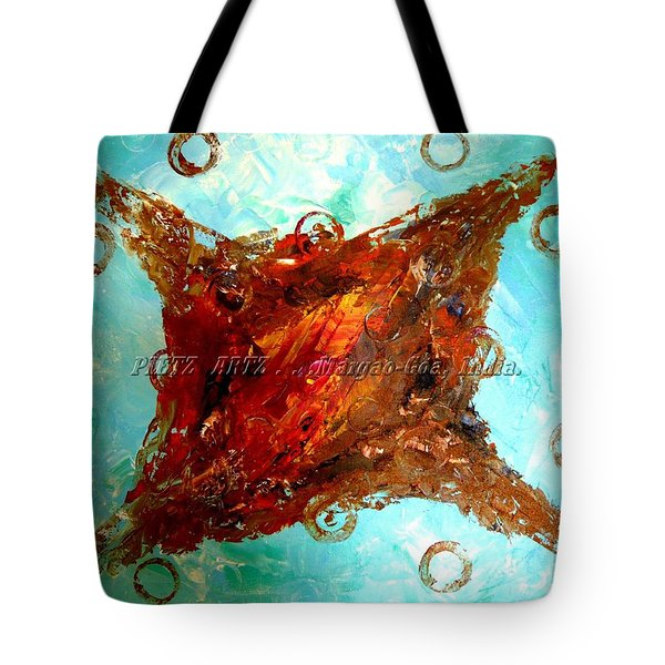 Tote Bag featuring the painting Galaxies by Piety Dsilva